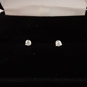 Genuine Diamond stud earrings